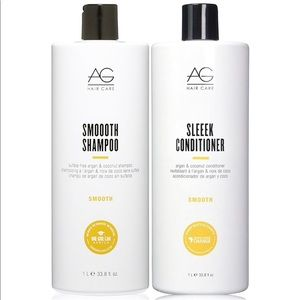 AG Hair Smoooth Shampoo and Sleeek Conditioner 1L